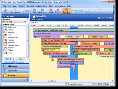 ProjectTrack Collaborative Edition 2010.10.31 screenshot