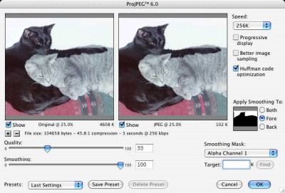 ProJPEG for Macintosh 6.0 screenshot