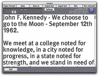 Prompt teleprompter for Mac OSX 7.5.02 screenshot
