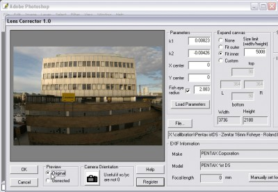 Proxel Lens Corrector Mac 1.2.2 screenshot