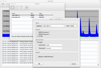 Proxifier for Mac 2.11 screenshot