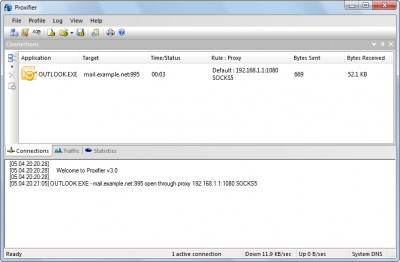Proxifier 3.21 screenshot