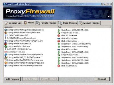 Proxy Firewall 1.0.4.253 screenshot