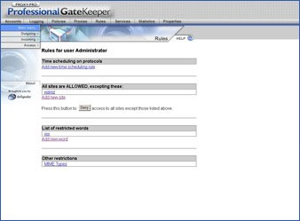 Proxy-Pro Professional GateKeeper 4.5 screenshot