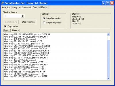ProxyChecker.Net (1.0.0.28) 1.0.0.28 screenshot