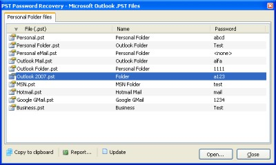 PST Password Recovery 1.0.6 screenshot