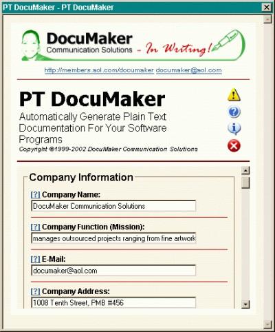 PT DocuMaker 1.0 screenshot