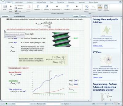 PTC Mathcad Express 3.1 screenshot