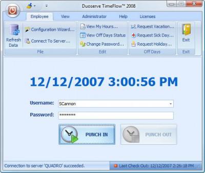 Punch Clock 2005 - TimeFlow 10 screenshot