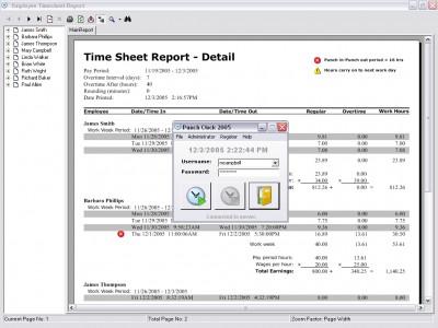 Punch Clock 2005 1.3 screenshot