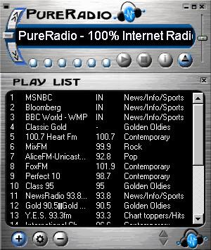 PureRadio 2.1 screenshot