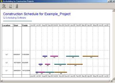 Q Scheduling Software 1.04 screenshot