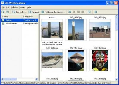QIC Webfotoalbum 1.0 screenshot