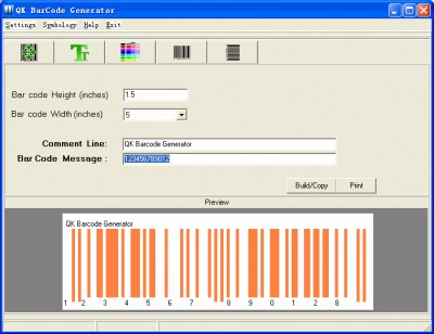 QK BarCode Generator 1.2 screenshot
