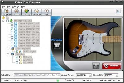 QPV DVD AND VIDEO TO IPOD 2011.1105 screenshot