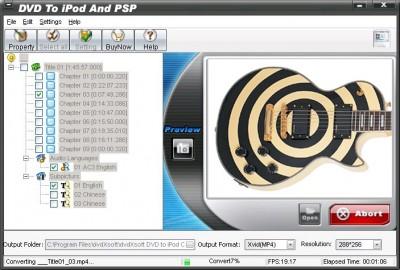 QPV DVD TO IPOD AND PSP 2011.1105 screenshot