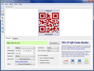 QR-Code Maker Freeware 1.0.0 screenshot