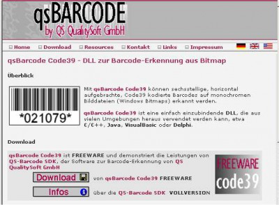 qs Barcode Code39 Reading 2.0.0.4 screenshot
