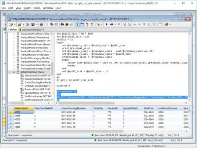 Query Tool (using ODBC) 7.0 x64 Edition 7.0.4.51 screenshot