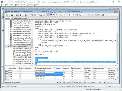 Query Tool (using ODBC) 6.1.9.73 screenshot
