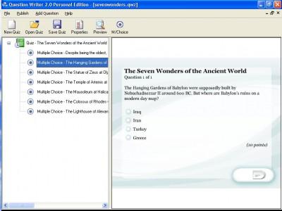 Question Writer 3 Basic 3.0 screenshot
