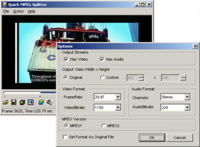 Quick MPEG Splitter 2.1 screenshot