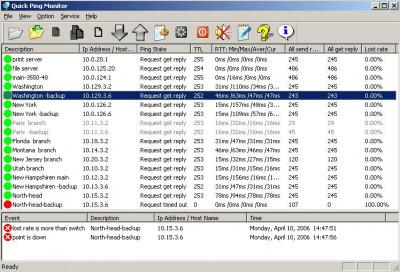 Quick Ping Monitor 3.3.0 screenshot