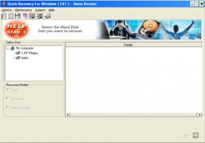 Quick Recovery for FAT - A Data Recovery Product 11.09.05 screenshot