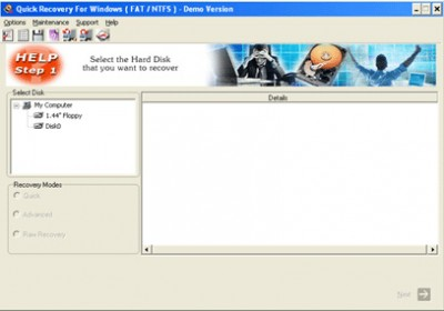 Quick Recovery for Windows FAT & NTFS - A Data Rec 11.09.05 screenshot