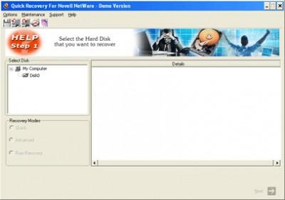 Quick Recovery Novell Netware FAT 10.x screenshot