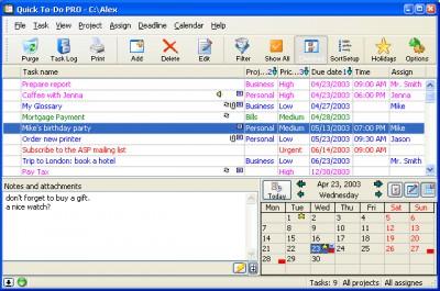Quick To-Do Pro 4.5.1 screenshot