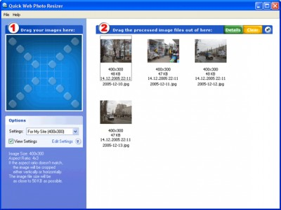 Quick Web Photo Resizer 2.1.0.1 screenshot
