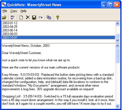 Quicknote 3.1 screenshot