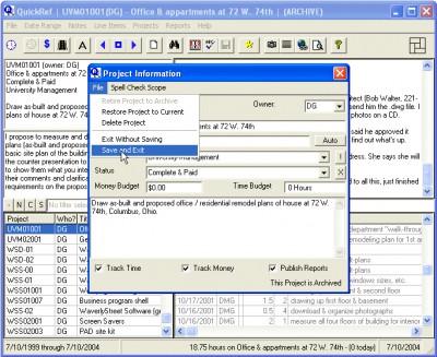 QuickRef Project Assistant 3.0.09 screenshot