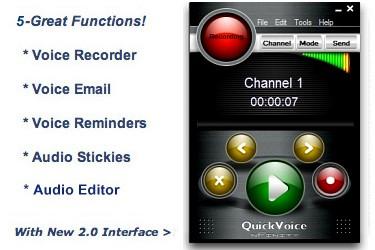 QuickVoice for Windows 2.2.0 screenshot