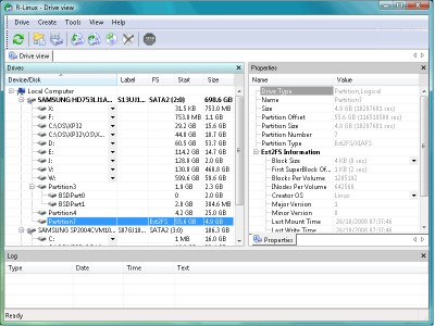 R-Linux Free Recovery 4.5 screenshot
