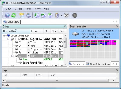 R-Studio Data Recovery Software 7.6 build screenshot