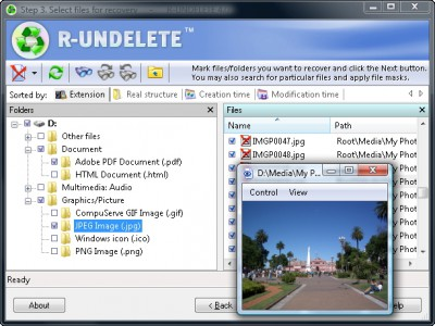 R-UNDELETE File Recovery 4.7 screenshot