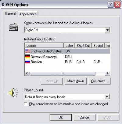 R-WIN Keyboard Switch 7.0 screenshot