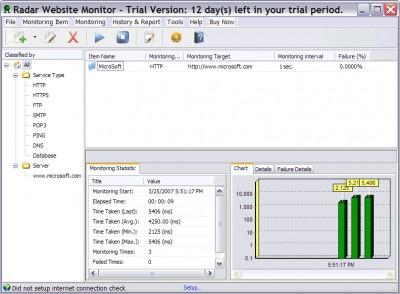 Radar Website Monitor 4.6.1.7 screenshot