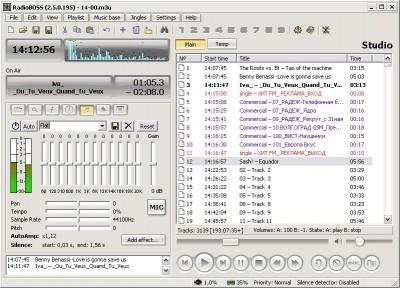 RadioBOSS 6.0.0.0 Beta screenshot