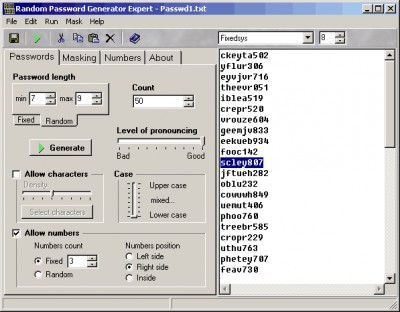 Random Password Generator Expert 2.0 screenshot