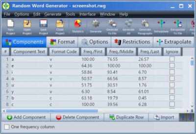 Random Word Generator 29.0 screenshot