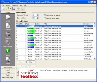 Ranking Toolbox 7.0.1 screenshot