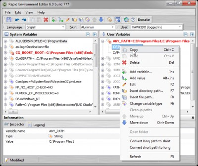 Rapid Environment Editor 9.2.0.937 screenshot