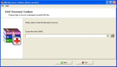 RAR Recovery Toolbox 1.1.17 screenshot