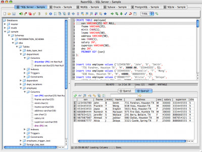 RazorSQL (OSX) 7.4.6 screenshot