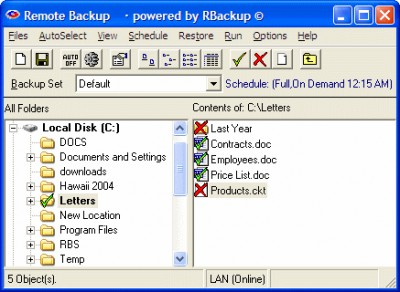 RBackup for Online Backup Services 11.12.0 screenshot