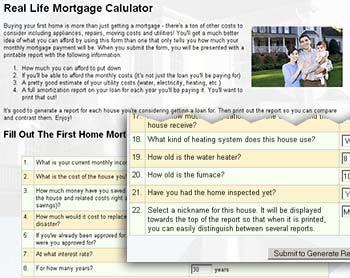 Real Life Mortgage Calculator 1.05 screenshot