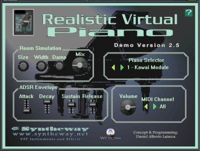 Realistic Virtual Piano VSTi 2.5 screenshot